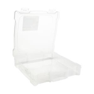 """Essentials"" 12"" x 12""  Box with handle Translucent Clear"