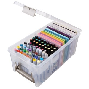 """Marker Storage Satchel Translucent Clear"