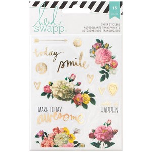 Stickers - HS - Memory Planner - Gold Foil - Clear - Floral