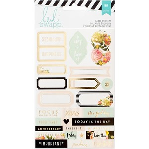 Stickers - HS - Memory Planner - Gold Foil - Labels - 2 Shee