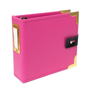 Albums - SC - Amelia - Handbook - Faux Leather - 4 x 4 - Pin