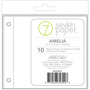 Page Protectors - SC - Baxter - 4 x 4 - Divided Refills 2 x