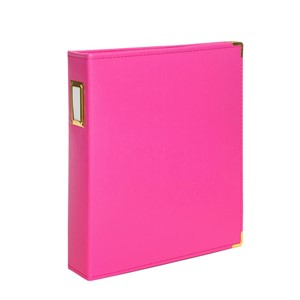 Albums -  9 x 12 - Faux Leather - Hot Pink 10 Page Protecto