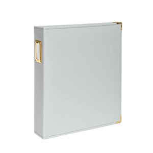 Albums -  9 x 12 - Faux Leather - Gray 10 Page Protectors