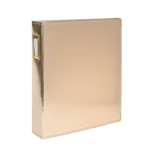Albums -  9 x 12 - Faux Leather - Gold 10 Page Protectors