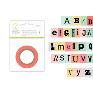 Embellishments - SC - Clara - Washi Tape Alphabet 10 Yards