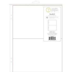 Page Protectors -  6 x 8 - Refills - 4x6 Pockets 10 Piece