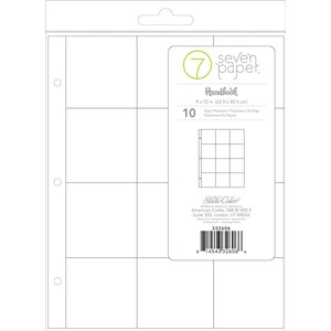 Page Protectors -  9 x 12 - Refills - 3x3 Pockets 10 Piece