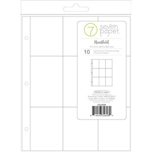 Page Protectors -  9 x 12 - Refills - 3x4 Pockets 10 Piece
