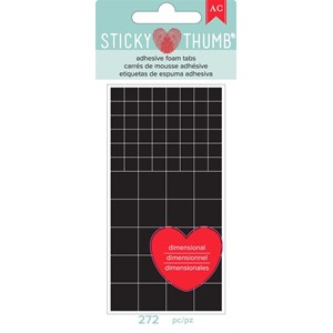 Dimensional Foam - AC - Sticky Thumb - Black Tabs 272 Piece