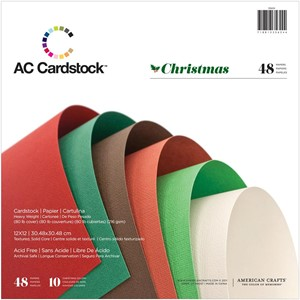 Cardstock Paper Pad - 12 x 12 - Christmas - 48 Sheets