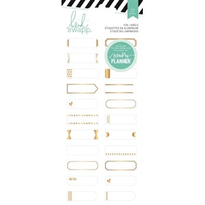 Stickers - HS - Hello Beautiful - Gold Foil Labels 22 Piece
