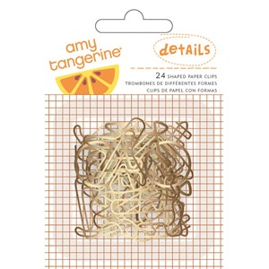 Embellishments - AC - AT - Rise & Shine - Paper Clips - Gold