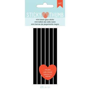 Glue Gun - AC - Sticky Thumb - Mini Glue Sticks - Black 24