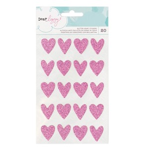 Stickers - AC - DL - Happy Place - Glitter - Hearts 20 Piec