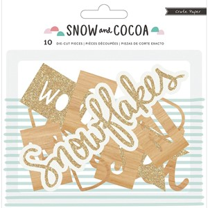 Snow & Cocoa - Diecut Phrases - 10 Piece - 3 pakker