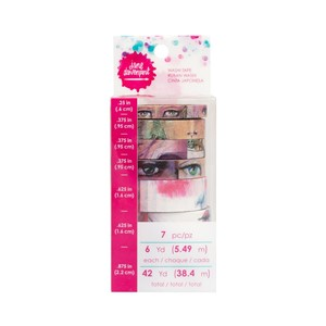 Washi Tape - JD   - Washi Rolls Faces 7 piece