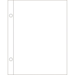 Page Protectors - 5x7 - Vertical - 12 pack
