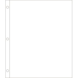 Page Protectors - 8x10 - Vertical - 12 pack