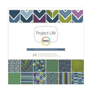 12x12 Designer Paper Collection Pack - Rain Edition - 24 she