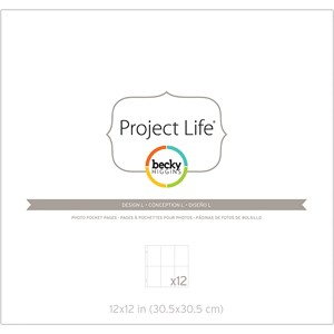 PL - Page Protector - Design L Pack of 12