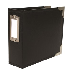 Project Life - Albums - Classic Leather - 4 x 4 - Black Inc