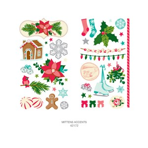 ReMarks - Dear Lizzy Christmas - Mittens - Accents-