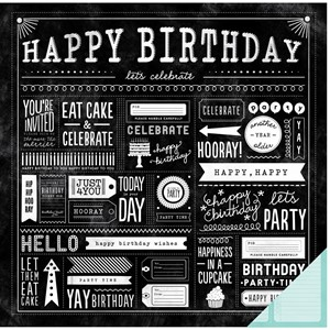 """""""""""""""12x12"""""""""""""""" - Paper -  PB - Birthday Wishes - Party"