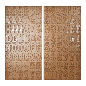 Kraft Resist Chipboard - Alphas and Numbers