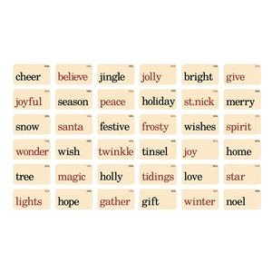 Flashcards, Christmastime