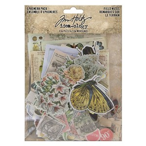 """Idea-ology Tim Holtz Field Notes Ephemera Pack (TH94051) Ti"