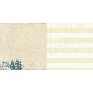 12x12 paper - Sailing - Two-sided heavy-weight textured card