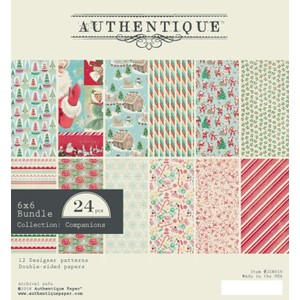 Authentique Jingle 6x6 Inch Paper Pad (JIN010)