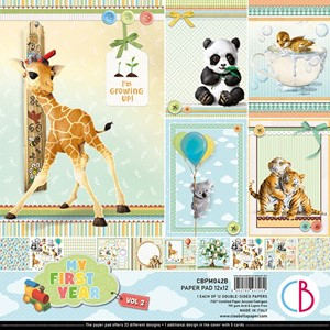 """My First Year Vol.2 Paper Pad 12""""x12"""" 12/Pkg"""