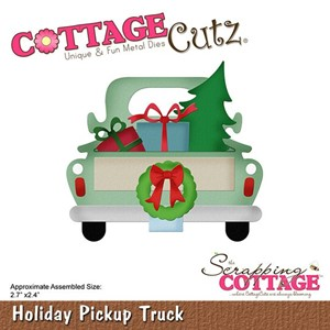 Scrapping Cottage Holiday Pickup Truck (CC-496)