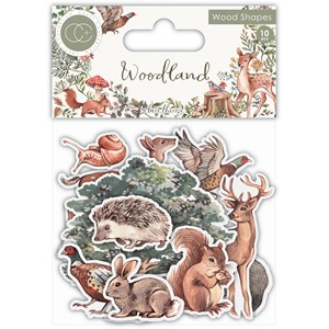 """Craft Consortium Woodland Printed Wood Shapes (CCWDNS012) W"