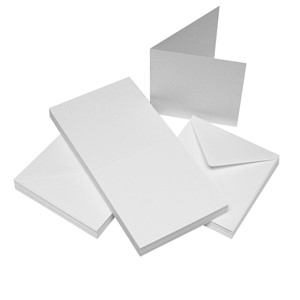 """Craft UK Cards & Envelopes 4x4 Inch White (CUK996) Cards &"