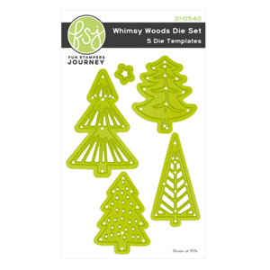 """Fun Stampers Journey Whimsy Trees Dies (DI-0540) Whimsy Tre"