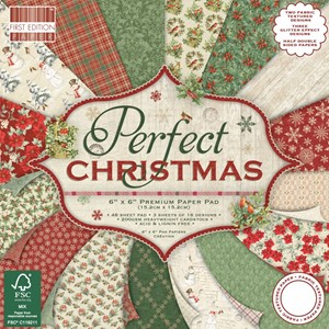 First Edition Perfect Christmas 6x6 Inch Paper Pad (FEPAD181