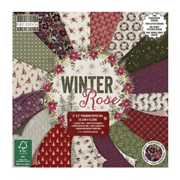 Winter Rose 6x6 Inch Paper Pad (FEPAD220X19)