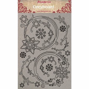 """Stamperia Greyboard A4 Snowflakes and Garlands (KLSPDA408)"