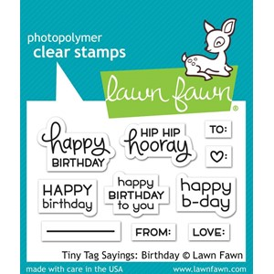 Lawn Fawn Tiny Tag Sayings: Birthday (LF1421)