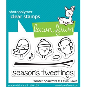 Lawn Fawn Winter Sparrows (LF565)