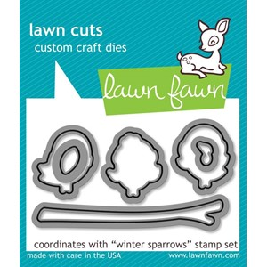 Lawn Fawn Winter Sparrows Dies (LF573)