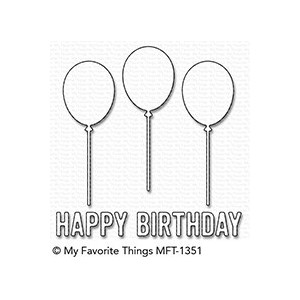 My Favorite Things Happy Birthday Balloon Trio Die-Namics (M