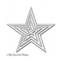 My Favorite Things Die-Namics Stitched Star (MFT-774)