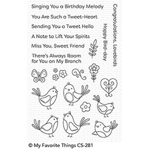 My Favorite Things A Tweet Hello Clear Stamps (CS-281)