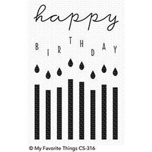 My Favorite Things Happy Birthday Candles Clear Stamps (CS-3