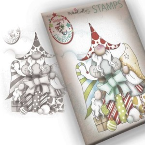 """""""Polkadoodles Gnome Gift Of Xmas Clear Stamp (PD7943) Gnom"