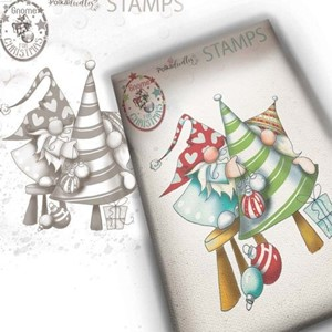 """""""Polkadoodles Gnome Decorating The Tree Clear Stamp (PD795"